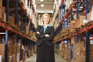 Female Manager in Warehouse